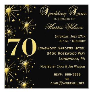 70.o Invitaciones del cumpleaños Invitaciones Personales