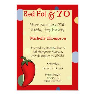 70.o Invitaciones del cumpleaños Invitación Personalizada