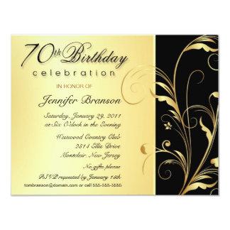 70.o Invitaciones del fiesta de sorpresa del Comunicado Personal