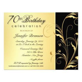 70 o Invitaciones del fiesta de sorpresa del cumpl
