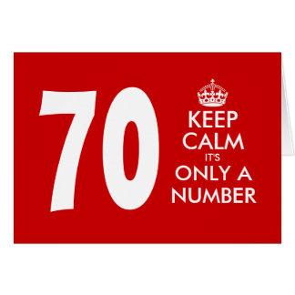 70.o La tarjeta de cumpleaños el | guarda calma qu