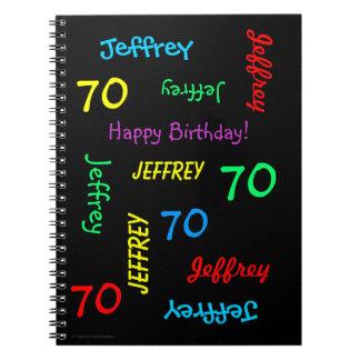 70.o Libro de visitas de la fiesta de cumpleaños, Cuadernos