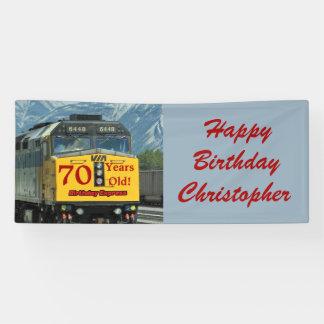 70.o motor personalizado del tren del amarillo del lona