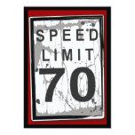 70.o Muestra sucia del límite de velocidad de la Invitacion Personalizada