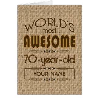 70.o Mundo de la celebración del cumpleaños mejor  Tarjeta De Felicitación