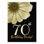 70.o Oro de la plantilla del cumpleaños y margarit Anuncios