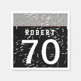 70.o Plata moderna de la pieza del cumpleaños y Servilletas Desechables