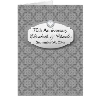 70.o Platino Z03 del aniversario de boda del Tarjeta Pequeña