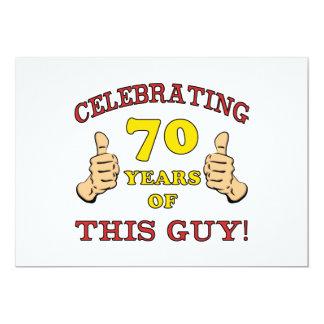 """70.o Regalo de cumpleaños para él Invitación 5"""" X 7"""""""