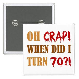 70 o regalo divertido de la mordaza del cumpleaños pin