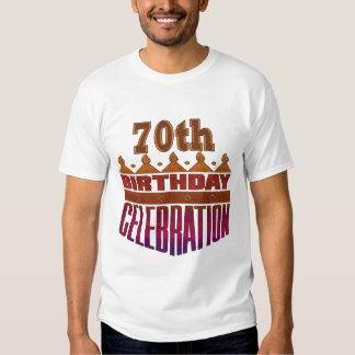 70.o Regalos de la celebración del cumpleaños Remera