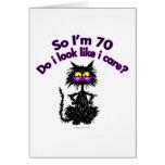 70.o Regalos del gato del cumpleaños Tarjetón