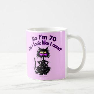 70.o Regalos del gato del cumpleaños Taza De Café