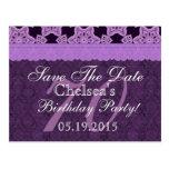 70.o Reserva del cumpleaños el cordón antiguo Tarjetas Postales