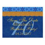 70.o Reserva del cumpleaños el cordón del azul y Postal