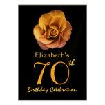 70.o Rosas del ORO de la invitación de la fiesta d