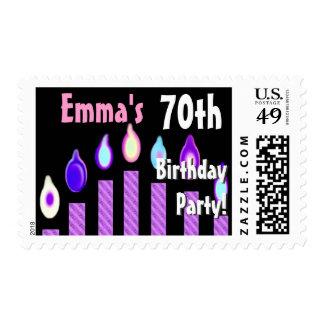 70.o sello de la fiesta de cumpleaños del NOMBRE D
