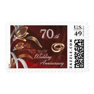 70.o Sellos del aniversario de boda
