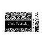 70.o Sellos negros del damasco del cumpleaños