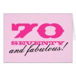 70.o ¡Tarjeta de cumpleaños para las mujeres el |
