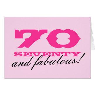 70.o ¡Tarjeta de cumpleaños para las mujeres el | Tarjeta De Felicitación
