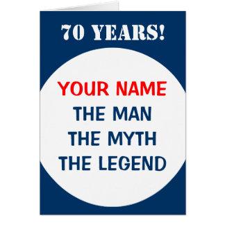 70.o Tarjeta de cumpleaños para los hombres el |