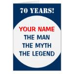70.o Tarjeta de cumpleaños para los hombres el | l