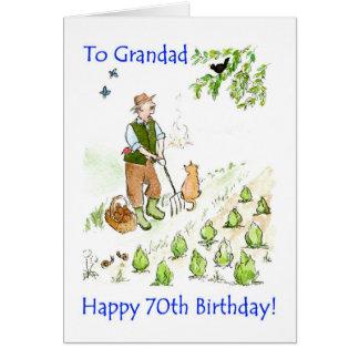 70.o Tarjeta de cumpleaños para un abuelo