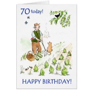 70.o Tarjeta de cumpleaños para un jardinero