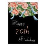 70.o Tarjeta del feliz cumpleaños de los rosas del