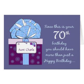 70.o Tarjeta del personalizable del cumpleaños