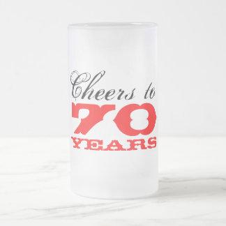 70.o Taza del regalo del vidrio de cerveza del cum