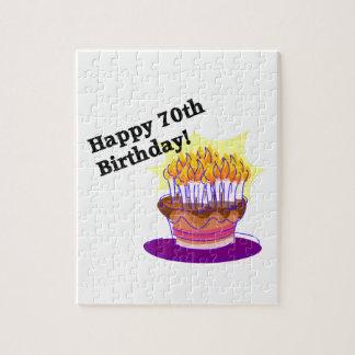 70.o Torta de cumpleaños Rompecabezas