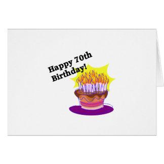 70.o Torta de cumpleaños Tarjeta De Felicitación