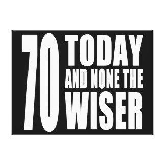 70 os cumpleaños divertidos 70 hoy y ningunos el lona envuelta para galerías