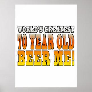 70 os cumpleaños divertidos Años más grandes de l Impresiones