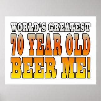 70 os cumpleaños divertidos Años más grandes de l Poster