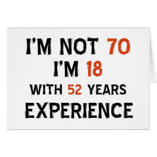 70.os diseños del cumpleaños tarjeta de felicitación