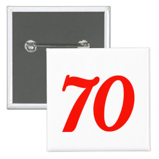 70.os regalos de cumpleaños del número setenta pin cuadrado