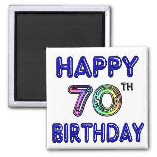 70.os regalos de cumpleaños felices en fuente del  imán cuadrado