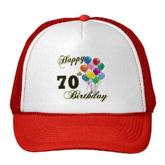 70.os regalos de cumpleaños y ropa felices del cum gorros