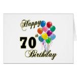 70.os regalos de cumpleaños y ropa felices del cum tarjetas