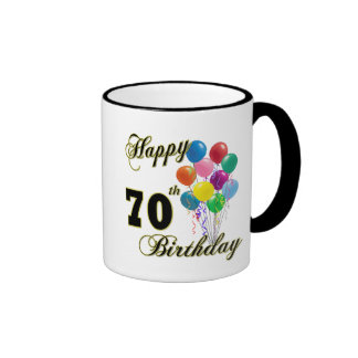 70.os regalos de cumpleaños y ropa felices del cum taza a dos colores