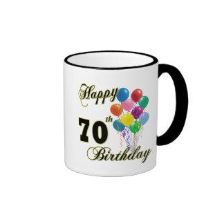 70.os regalos de cumpleaños y ropa felices del taza de dos colores
