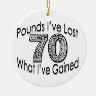 70 Pounds Lost Ornament
