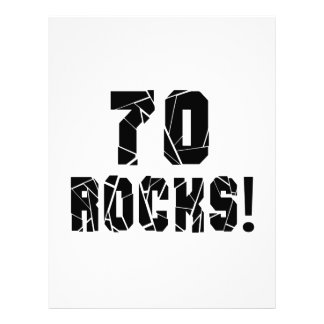70 Rocks Birthday Designs Letterhead