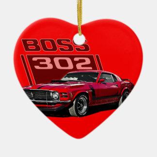 70 rojo de Boss 302 Adorno Navideño De Cerámica En Forma De Corazón