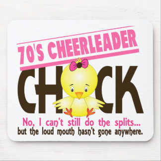 70's Cheerleader Chick Mouse Pads