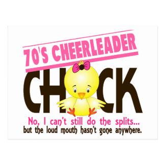 70's Cheerleader Chick Postcard