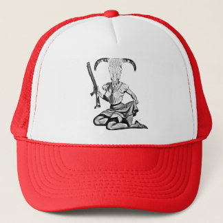 70 ' S pin-up girl skull Trucker Hat